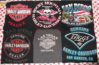 HARLEY DAVIDSON Biker T SHIRTS MED LARGE + Motorcycle Chopper Sturgis