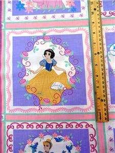 Fabric 35 Belle Cinderella Aurora Snow White Cartoon Movie