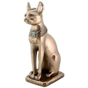 Egyptian Bronze Bastet Cat Statue Figurine Decoration