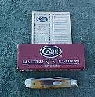 CASE XX 5207D Stag Damascus Mini Trapper Pocket Knife R