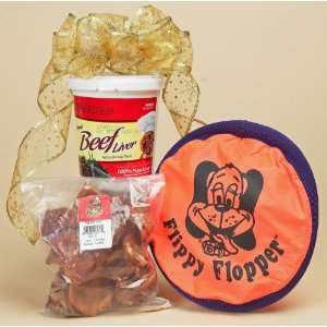 Dog Gift Set 1   Flippy Flopper, Pig Ears & Beefeaters Treats