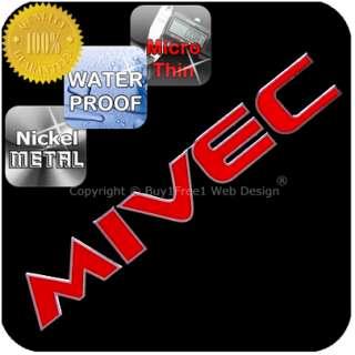 MIVEC Chrome Red Nickel Metal Decal Sticker Graphic Badge Door Step