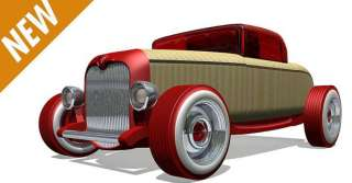 Automoblox Mini Red Hot Rod HR1 Wood Toy New Box #55112 NEW