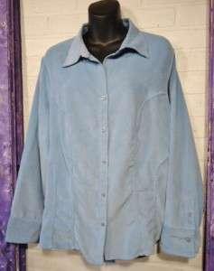 Light Blue Moleskin Shirt ~ AVENUE ~ Plus Size 18/20