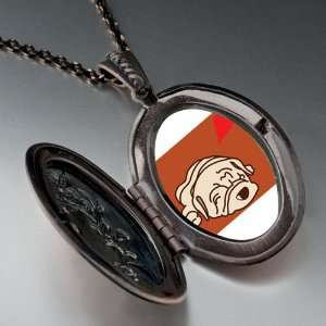 Shar Pei Dog White Pendant Necklace Pugster Jewelry
