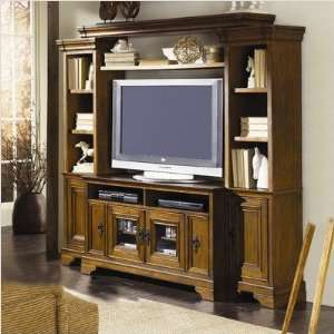 Lansford Park LNP10048 Chesterfield 47 TV Stand in Distressed Rich