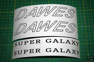DAWES super galaxy touring bike frame stickers decals