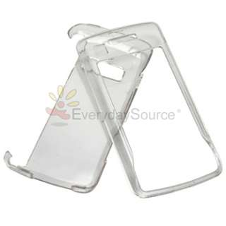 BLACK+CLEAR CRYSTAL CASE+SCREEN LCD PRO FOR LG VERIZON enV TOUCH