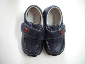 NEW NAVY BLUE LEATHER BABY TODDLER SHOES SIZE 5 6 7