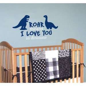 Dinosaur Quote Decal   Roar Means I Love You in Dinosaur   Children