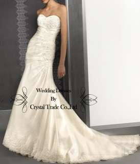 Sweetheart Mermaid Wedding Bridal Dress Prom Evening Formal Dress