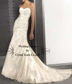 Sweetheart Mermaid Wedding Bridal Dress Prom Evening Formal Dress