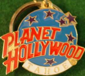 Planet Hollywood LAKE TAHOE Earth Globe Logo KEYCHAIN