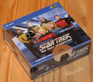 Complete Star Trek TNG Series 1 One Sealed Box   4 Autographs