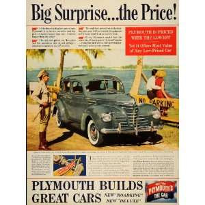 1939 Ad Plymouth Car Chrysler Hydraulic Brake De Luxe