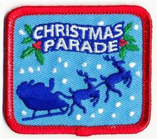 Girl Boy Cub CHRISTMAS PARADE SANTA Fun Patches Crest Badges SCOUTS