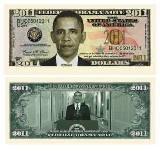 President Barack Obama 2011 Dollar Bill (w/Protector)