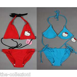 SANRIO HELLO KITTY BIKINI BATHING SUIT SWIMSUIT XS S M L RED