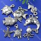 40pc Tibetan Silver Mixed Sea Ocean Animal Charm Pendan
