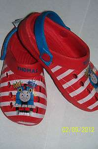 THOMAS the Tank Engine TRAIN & Friends CLOGS SANDALS SHOES 9 or 10 NWT