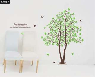 60X90CM Lovers Tree Removable Vinyl Decal Art DIY Home Decor Wall