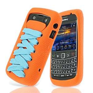 Cover with Screen Protector   Orange Skin & Sky Blue Lace Electronics
