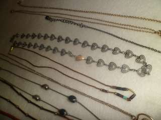 Lot 19 Vtg & Modern Used Fashion Necklaces Winard Avon Monet Claires