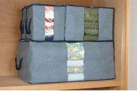 Bamboo Charcoal Bedquilt Blanket Pillow Clothes Storage Bag Protector