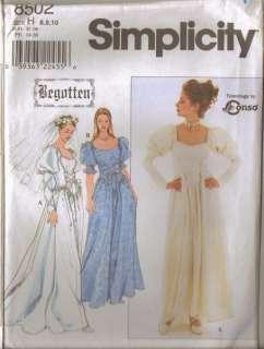 Simplicity Sewing Pattern Misses Begotten Renaissance Costume