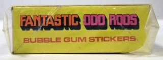 DONRUSS 1973 FANTASTIC ODD RODS FULL WAX BOX 24 UNOPENE