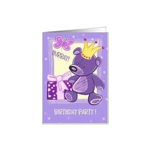 Birthday Party for Kids Invitation.Teddy Bear Card Toys