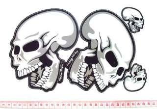 Double Skull Sticker Decal Halloween Horror Dark 1085
