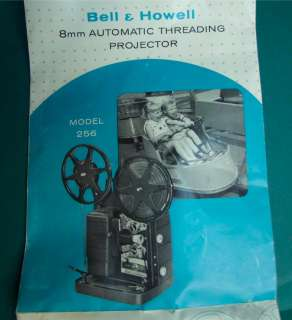 Bell & Howell Regular 8mm Movie Projector Model 256 for parts or