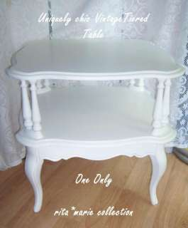 TABLE 1950s Shabby Victorian Cottage Chic LIVING ROOM, BEDROOM