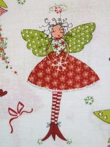 Michael Miller Heavenly Pixies Fairy Christmas Holiday Fabric Yard