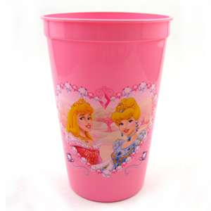 Disney Princess Aurora, Cinderella, Belle, and Snow White Pink Plastic