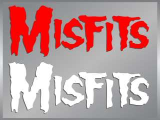 The Misfits Logo cut vinyl decal stickers classic punk