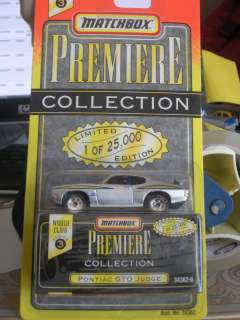 64 PREMIERE COLLECTION 1969 PONTIAC GTO JUDGE SILVER BY MATCHBOX Mi15