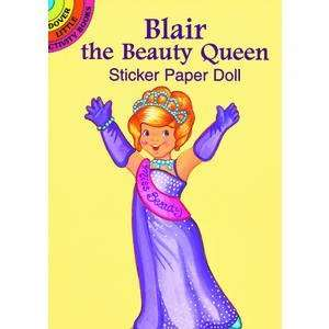 Blair the Beauty Queen Sticker Paper Doll Toys & Games