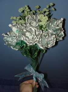 Origami Money Long Stem Rose Spendable US Cash Gift