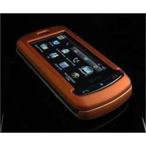 ORANGE Hard Plastic Full View Rubber Feel Cover Case w
