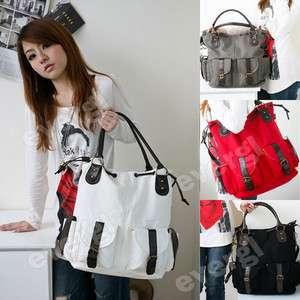 New Fashion Korean Womens Canvas Leisure Big Bag Handbag Shoulder Bag