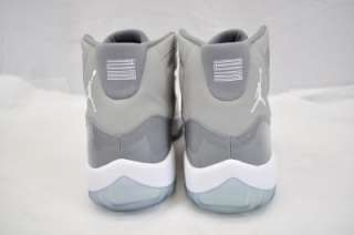 RETRO 378037 001 MEDIUM GREY WHITE COOL GREY AJ XI 2010 NIB 10