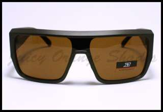 SQUARED MOB Style Retro FLAT TOP OVERSIZED Sunglasses MATTE BROWN
