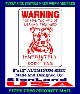 PITBULL DOG SIGN Pit Bull Decal Guard (4 COLORS )BB1PB