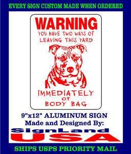 PITBULL DOG SIGN Pit Bull Decal Guard (4 COLORS )BB1PB