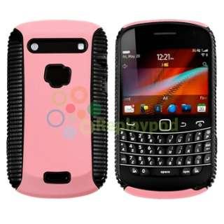 Black Pink Hard Hybrid Case+Privacy Guard+USB For BlackBerry Bold 9900