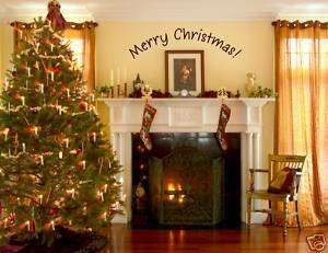 MERRY CHRISTMAS decorations vinyl wall quotes decal art
