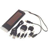 LED Light Solar Power Battery Charger w/ Cell phone Adapter for iPod