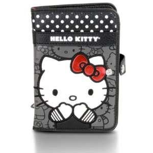 Womens Hello Kitty Black & White Polka Dot Passport Case